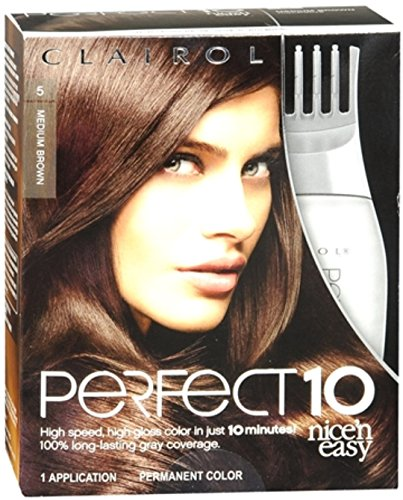 Nice 'n Easy Perfect10 Permanent Color 5 Mocalotive (Medium Brown) 1 Each (Pack of 12) by Clairol