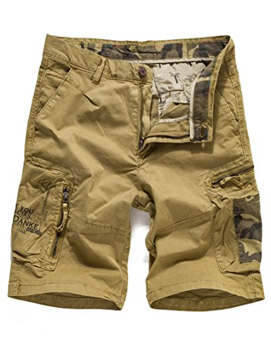 Eaglide Men's Casual Cargo Shorts, Mens Slim Fit Athletic Twill Cargo Shorts