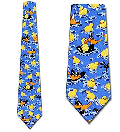 Daffy Duck Tub Time Tie - Mens Looney Tunes Necktie ()