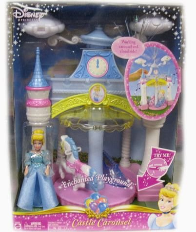 Disney Castle Carousel - Disney Princess Enchanted Cinderella Musical Castle Carousel Playset