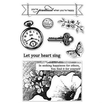 Pocket Watch Clear Stamps - Serenade - Basic Grey