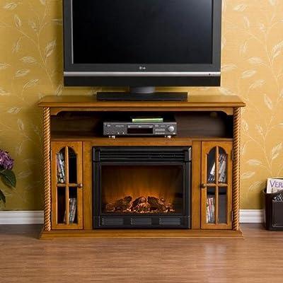 SEI Tillman Media Console with Electric Fireplace
