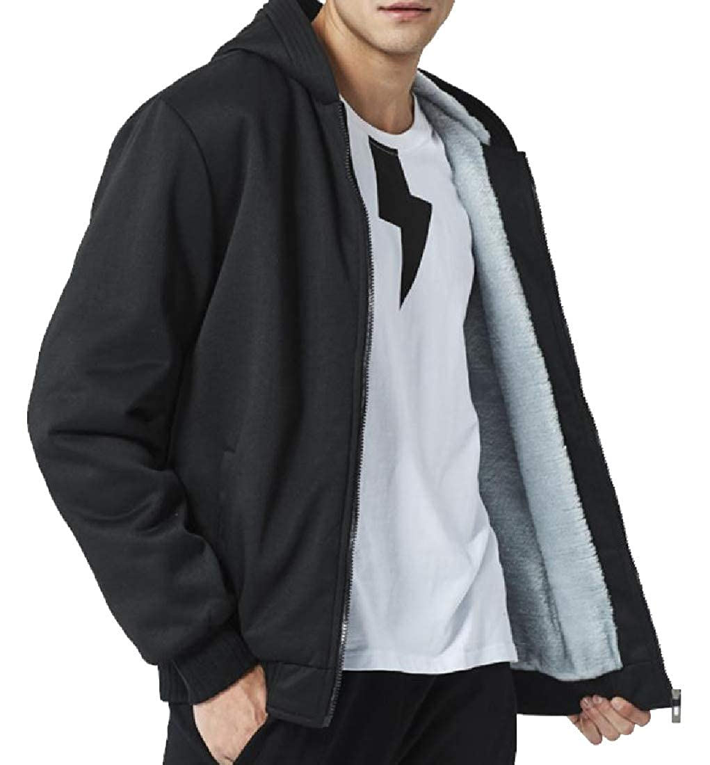 Zimaes-Men Large Size Fleece Lined Fall Winter Juniors Hoodies