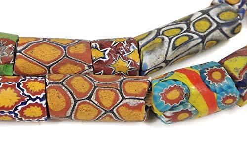 (Millefiori Venetian Trade Beads Mixed Africa 26 Inch)