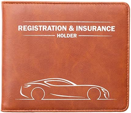 Canopus Car Registration and Insurance HolderMagnetic Closure Car Document Holder Vehicle Glove Box Organizer Wallet for Auto Motorcycle Truck and more 1 PackEZ Pass Strip Car