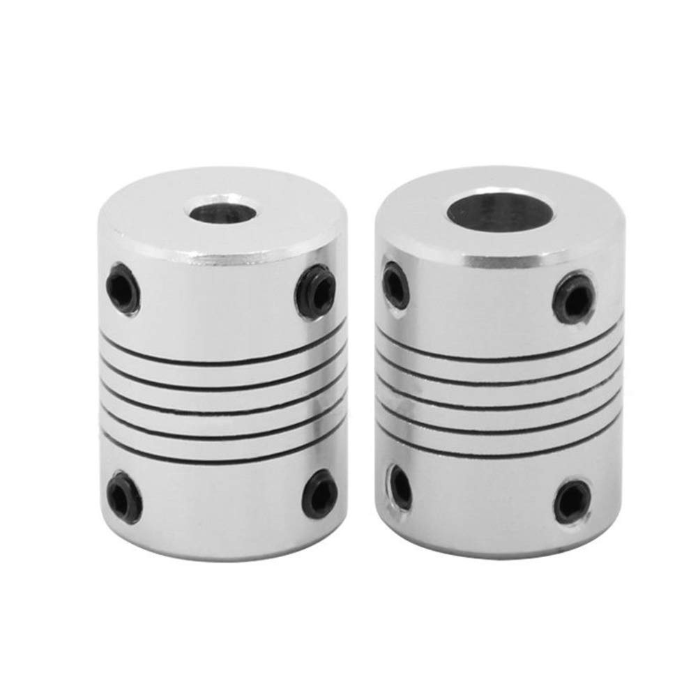 3D Printer Parts and Accessories,dezirZJjx Flexible Joint Shaft Coupling Rigid for CNC Motor Coupler Connector 3D Printer 3x8mm