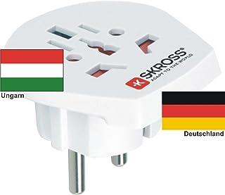 Auslandsadapter adaptateur de voyage-prise adaptateur secteur de l'électricité en hongrie 220–230 v/sK adaptateur de voyage motif hungary