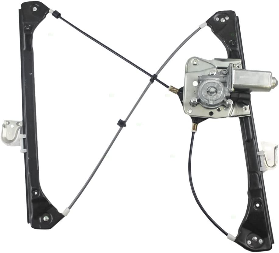 1999-2004 Oldsmobile Alero SUNROAD Power Window Lift Regulator with Motor Assembly Rear Left Driver Side Replacement for 1999 2000 2001 2002 2003 2004 2005 Pontiac Grand Am