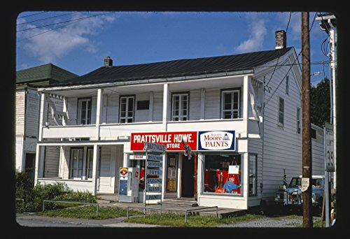 24 x 16 Ready to Hang Gallery Wrapped Fine Art Canvas Print of: Prattsville Hardware Store, Prattsville, New York 1977 Roadside Americana, J Margolies 83a by Vintography