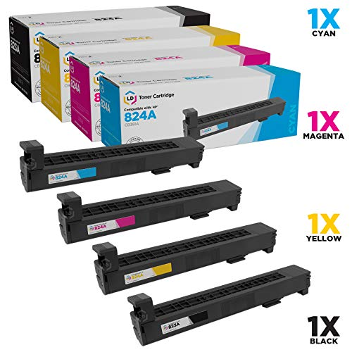 (LD Remanufactured Toner Cartridge Replacement for HP 823A & 824A (Black, Cyan, Magenta, Yellow, 4-Pack) )
