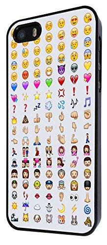 558 - Cool Smiley Faces emoji Funky Funny Design iphone 5 5S Hülle Fashion Trend Case Back Cover Metall und Kunststoff - Schwarz