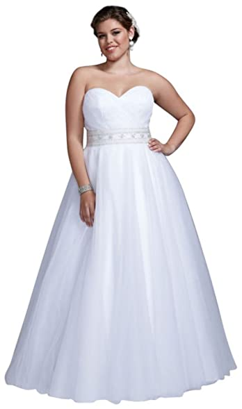 David\'s Bridal Sample: Strapless Tulle Ball Gown Style AI14310099 at ...