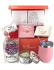 Happy Birthday Box for Women   Premium Unique Gift Ideas for Her   Surprise Package Filled with Fun Gifts for Mom Daughter Sister Best Friend