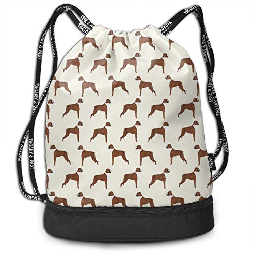 MODREACH Drawstring Bag- Stylish Boxer Dog Lover Pet Pattern Lightweight Sackpack Sport Gym Bundle - Tech Boxers Virginia