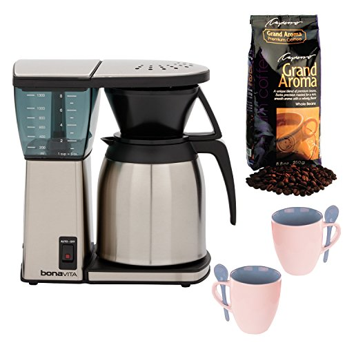 Bonavita BV1800SS 8 Cup Coffee Maker w/ Thermal Carafe + Kno