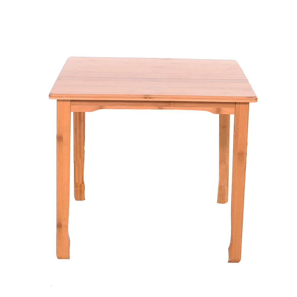 BUENAVO Kids' Furniture Kiddy Table Natural Bamboo Simple Children Table and Chair for Kids Sandal Wood Color (1 Table)
