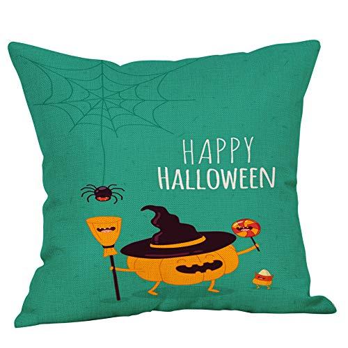Halloween Pillow Case KIKOY Comic Cute Pumpkin Home Decor Cushion Cover -