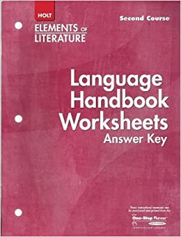 Printables Language Handbook Worksheets Answer Key Online language handbook worksheets answer key elements of literature second course grade 8