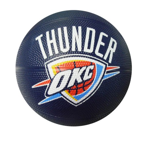 Spalding NBA Oklahoma City Thunder Mini Rubber Basketball - Edge Pro Jersey