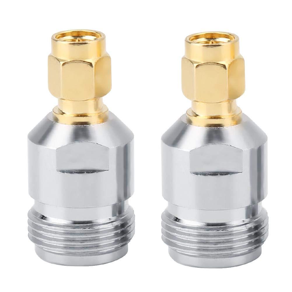 2 UNIDS Tipo N Macho a SMA Conector de RF Adaptador Coaxial Convertidor de Prueba