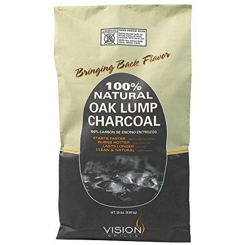 Vision Grills 100% Natural Oak Lump Charcoal 20 lb. Bag by Vision Grills