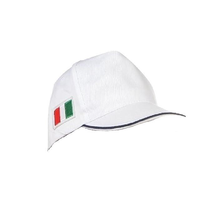CAPPELLO BANDIERA ITALIA TRICOLORE VISIERA CAPPELLINO HAT 0ba05239d4e5
