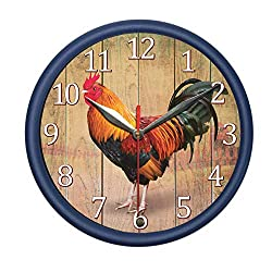 Rooster Wall Clock with Rooster Sound. Decorate Your Bedroom, Kitchen or Office with Stylish Wall Clock