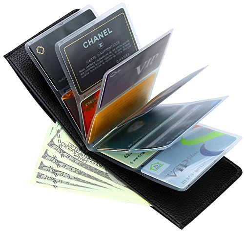 Amazing Slim Thin RFID Security Credit Card Holder Mens Wallet Case for Men and Women (Camo Green)