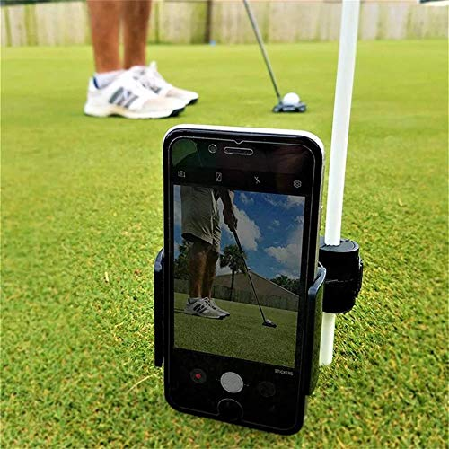 Golf Phone Holder Clip | Cell Phone Swing Recording Clip for Alignment Stick | Golf Accessories (L)