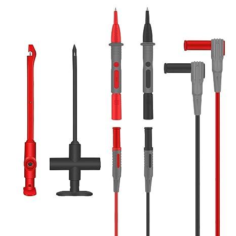 2Pcs 4mm Automotive Test Lead Kit Power Probe Wire-Piercing Clip Tools