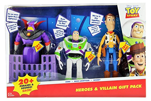 Disney Pixar Toy Story Heroes & Villain Gift Pack, Talking Zurg, Buzz Lightyear & Woody (Buzz Lightyear And Woody)