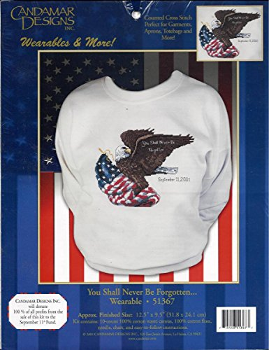 Candamar Designs - Wearables & More - You Shall Never Be Forgotten #51367 September 11, 2001 - Counted Cross Stitch ()