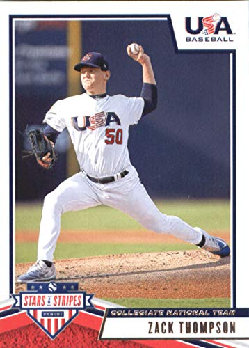 2019 Panini Stars and Stripes #16 Zack Thompson USA Baseball Collegiate National Team Baseball Card