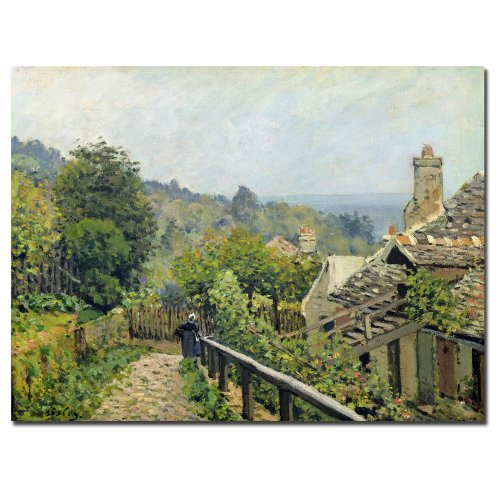 Louveciennes 1873 by Alfred Sisley, 26x32-Inch Canvas Wall Art - Alfred Sisley Painting