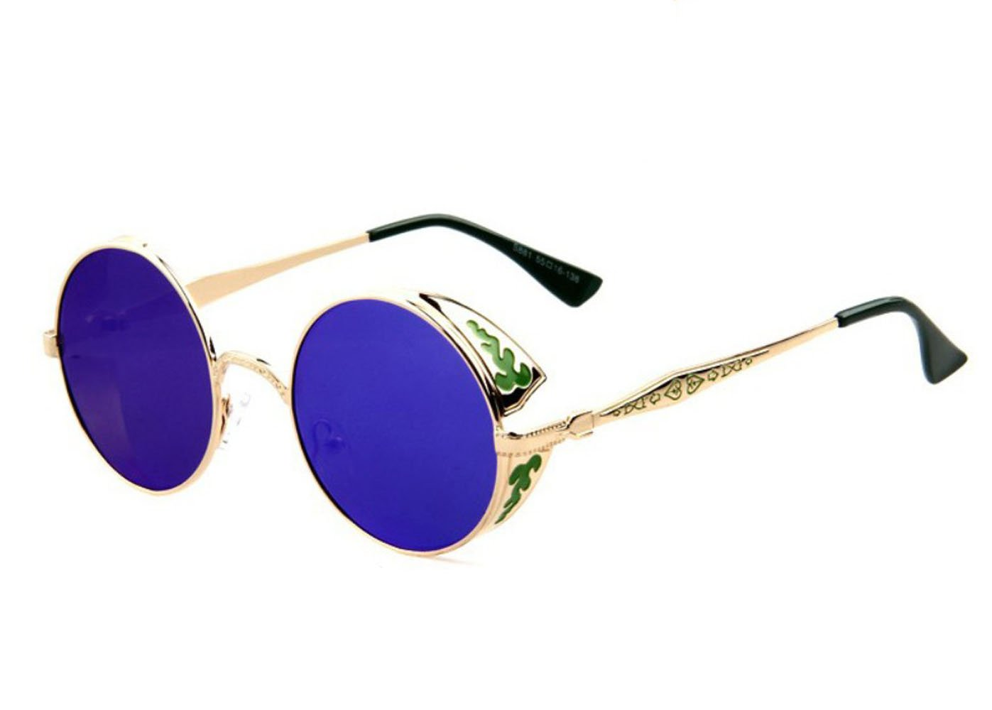 TELAM Telam Sunglasses, Vintage Retro Steampunk Gothic Round Sunglasses. Eyewear