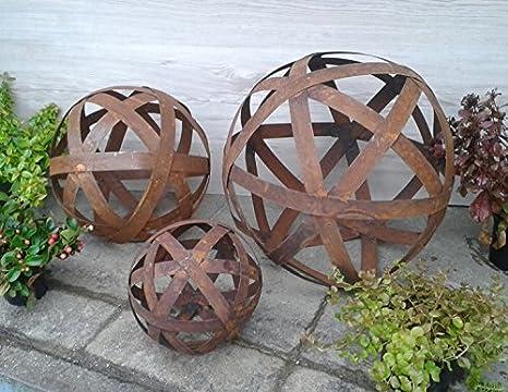 Decorazioni Da Giardino : Decorazione da giardino a forma di sfera in ferro patinato con