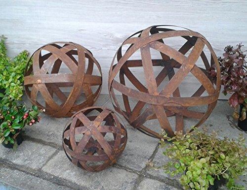 Rost Kugel 30 Cm Blechstreifen Deko Dekoration Edelrost Garten Eisen