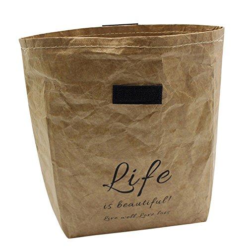 CapsA Washable Kraft Paper Bag Tearless Leather Food Insulation Bag Plant Flowers Pots Multifunction Home Storage Bag Reuse