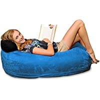 Chill Sack Bean Bag Chair: Large 4 Memory Foam Furniture Bag and Large Lounger - Big Sofa with Soft Micro Fiber Cover - Royal Blue