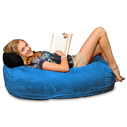 Chill Sack Bean Bag Chair: Large 4' Memory Foam Furniture Bag and Large Lounger - Big Sofa with Soft Micro Fiber Cover - Royal Blue by Chill Sack
