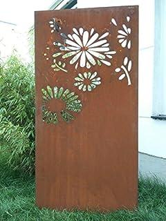 Amazon De Garten Sichtschutz Aus Metall Rost Gartenzaun