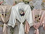 Personalized Bridesmaid Robes Lace Bridal Robe Bridesmaid Gift Proposal Floral Wedding Design