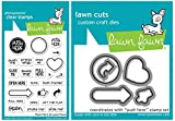Lawn Fawn - Push Here - Interactive Card Sentiments Stamp and Die Set