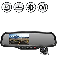 Rear View Safety RVS-776718-DOS OEM G-Series Black Rear View Camera System with Auto Dimming and OnStar