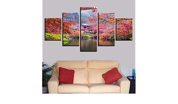SUYUN Pintura Decorativa, HD de Cinco árboles de impresión ...