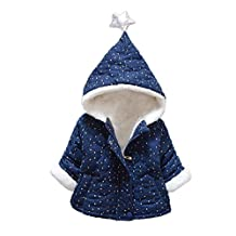 Warm Coat Jacket, Flank Baby Infant Girls Winter Thick Warm Clothes (90, Navy)