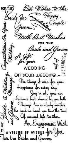 Wedding Greetings - For the Bride // Clear stamps pack (4