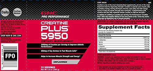 GNC Pro Performance® Creatine Plus®, 33 Servings, 7.0 oz (200g)