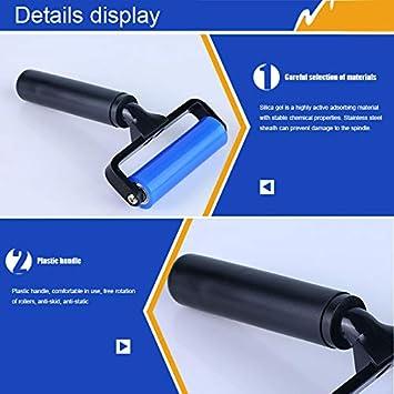 Unityoung Rouleau de Colle en Caoutchouc de Silicone Anti-Statique avec poign/ée en Plastique Noir pour PCB LCD SMT 4 inches Couleur Unique