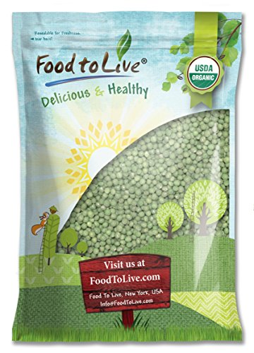 Organic Sprouting Green Peas by Food to Live — 15 Pounds by Food to Live